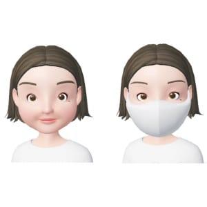 丸顔さんがマスクをしている時の特徴