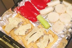 皮を剥いて1cm幅の輪切りにした「山芋」や「厚切りハム」「厚切りベーコン」「そら豆(さやごと)」などがグリル調理に向いています