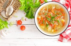 サラダorスープを選ぶ