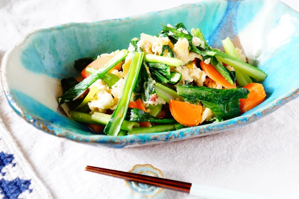 小松菜のβ-カロテンを重視した簡単レシピ