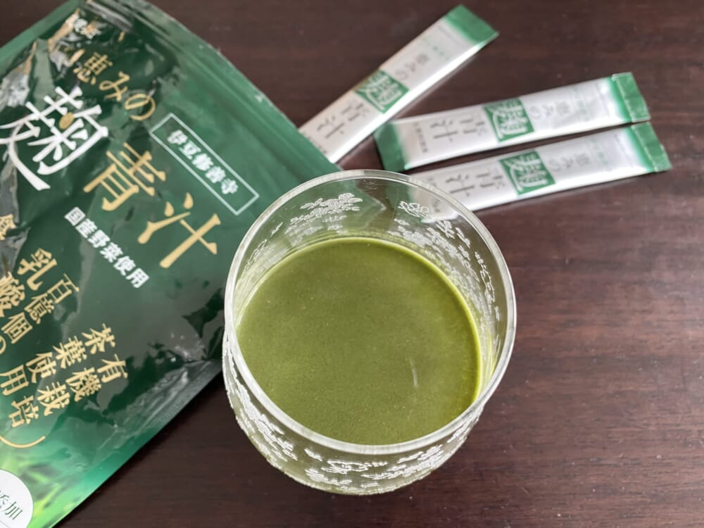 恵みの麹青汁/爽健らぼ