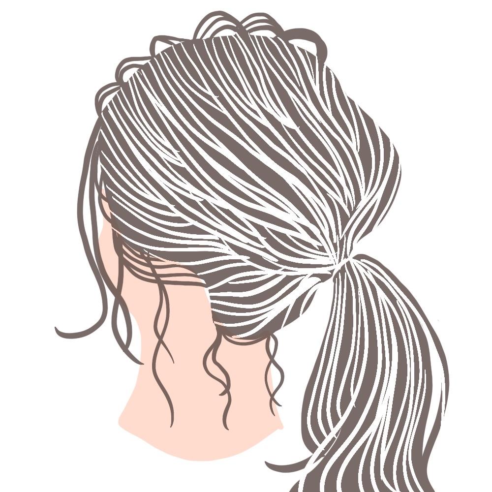 STEP3:後れ毛をコテやアイロンで巻いて仕上げる
