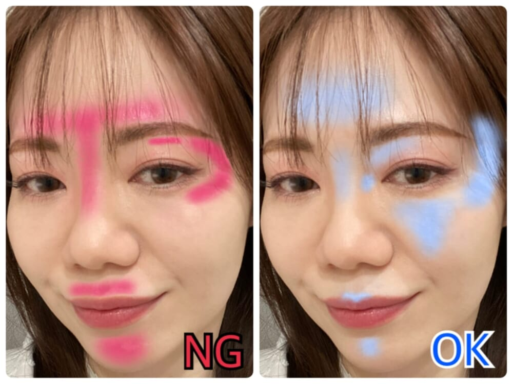 NGとOK写真の比較