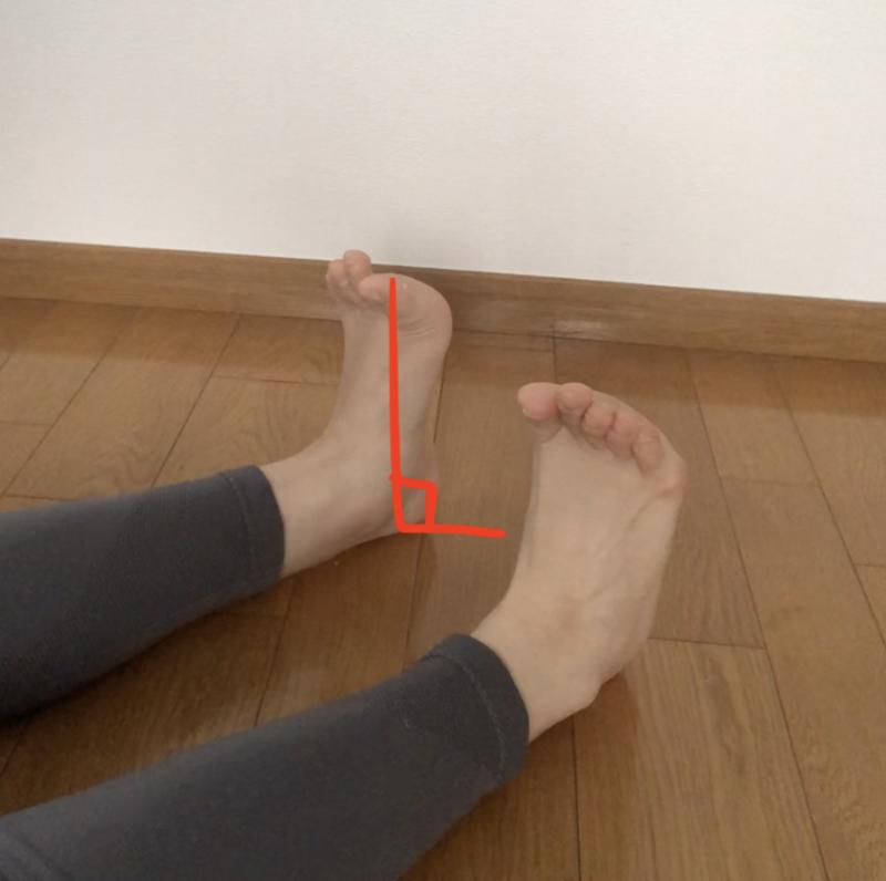 STEP6:つま先を伸ばしたり、曲げたりする