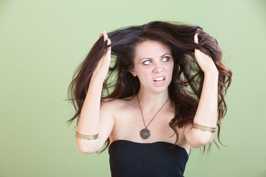 うねりの出た髪の毛