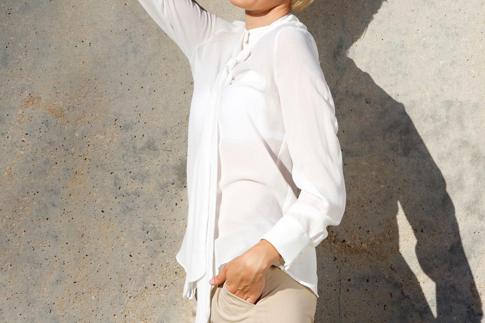 ほど良い透け感でフェミニンに!シアー素材の大人着こなし術