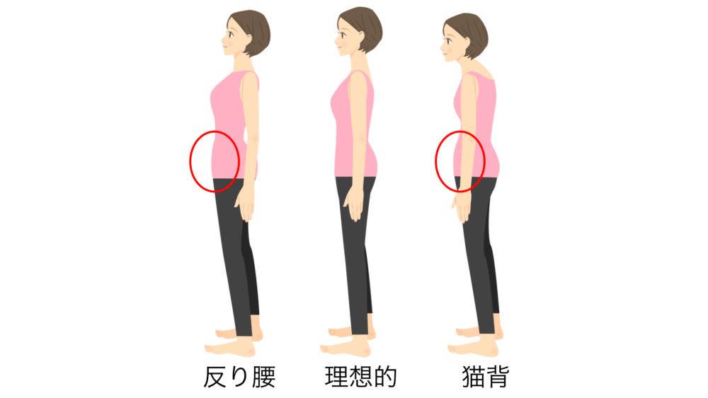 姿勢の悪化
